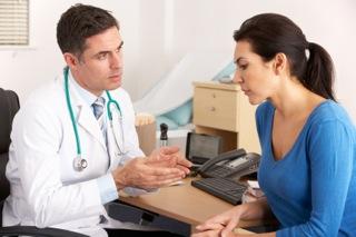 Female Patient & Doctor